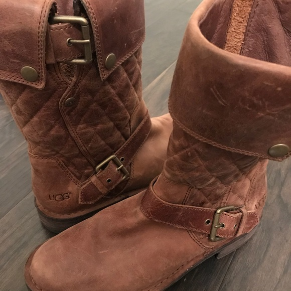 e4f6897c8f5 Conor Fawn Quilted Ugg Boots sz 7 great condition